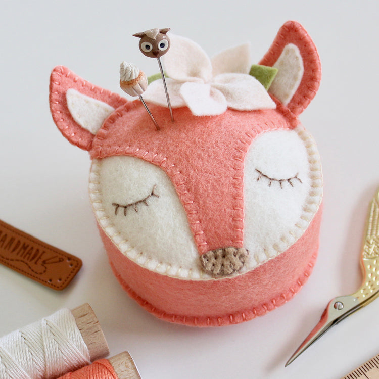 """Fifi Fox"" ~ Felt Pin Cushion pattern by Molly and Mama"