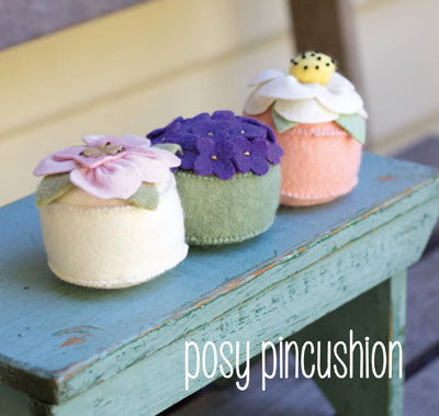 "May Blossom ""posy pincushion"" pattern by Simone Gooding"