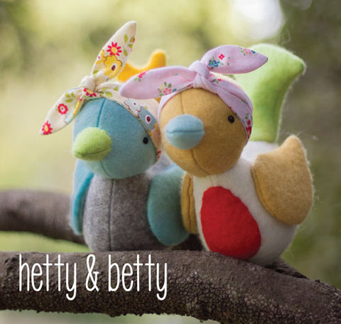 "May Blossom ""hetty & betty"" pattern by Simone Gooding"