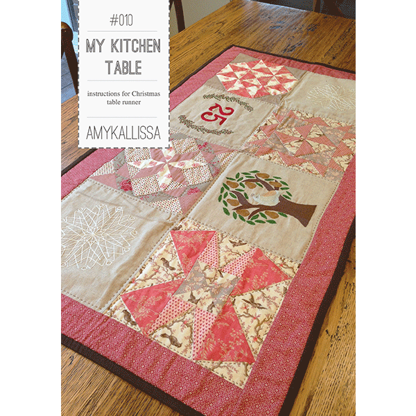 My Kitchen Table~ Pattern by Amy Kallissa