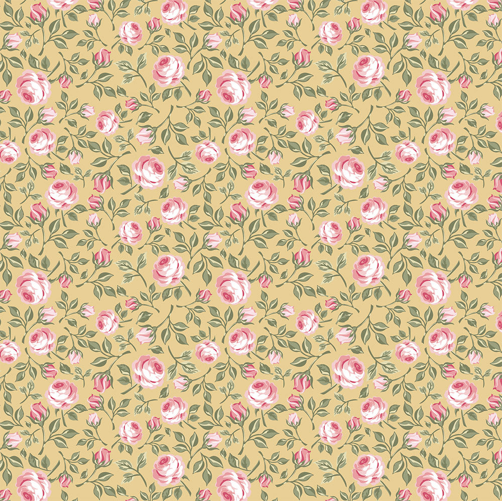 Poppie Cotton ~Gingham Farmhouse~ Vintage Roses~ Basic