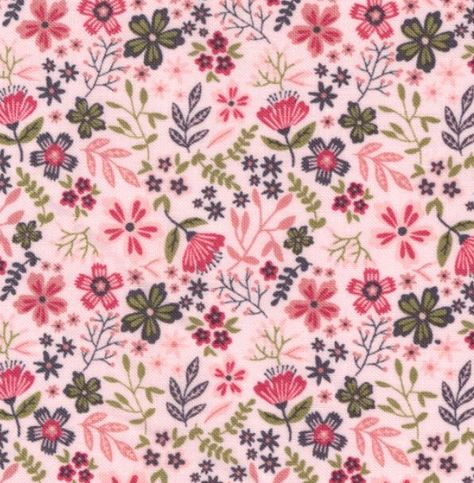 Poppie Cotton ~Gingham Farmhouse~ Gingham Flowers  ~ Pink