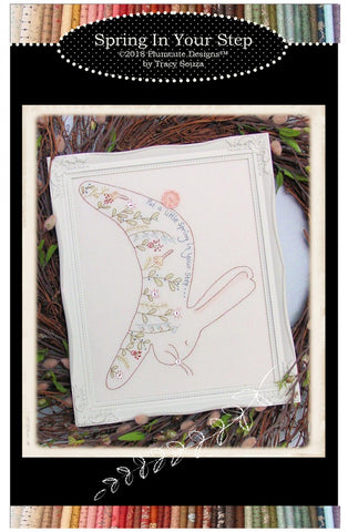 """Spring in Your Step"" Stitchery - Plumcute Designs"