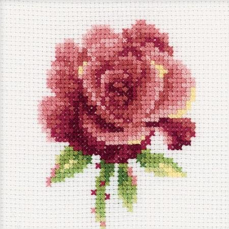 Red Rose  H168~ Pattern & Kit