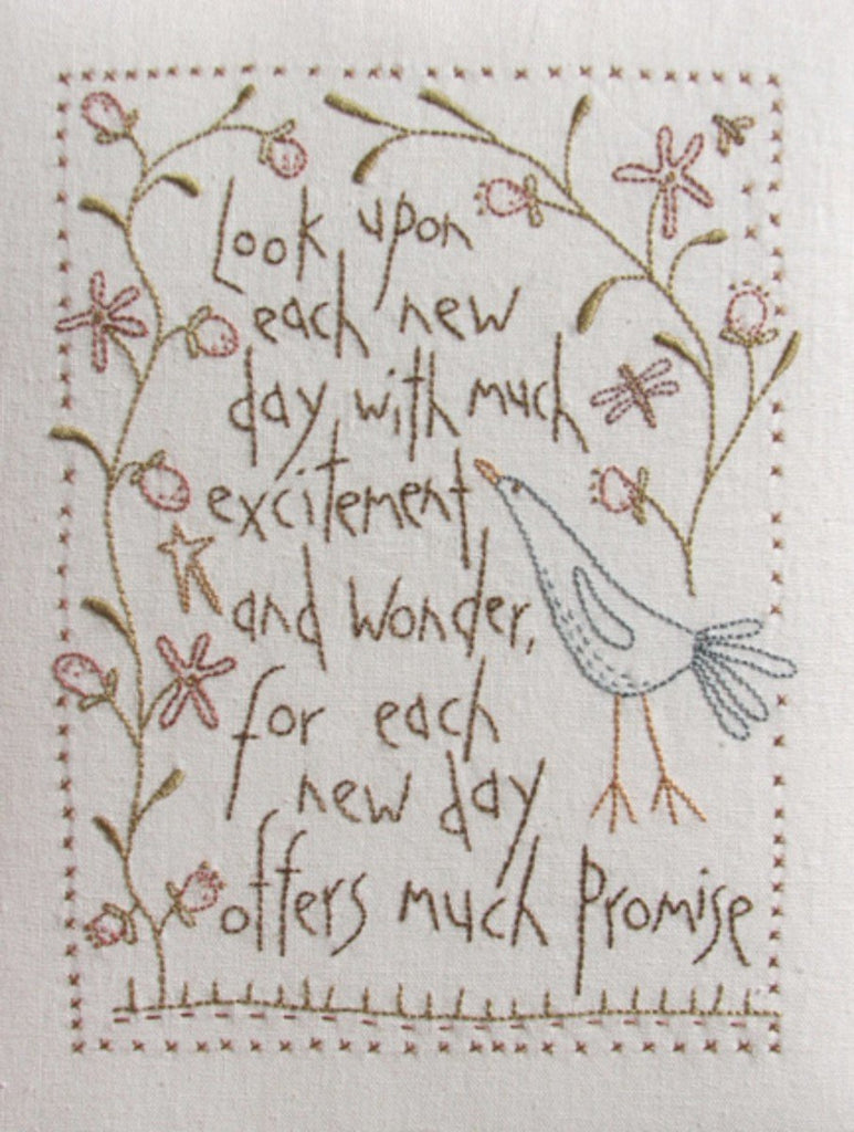 Hatched & Patched ~ New Day Stitchery~ pattern