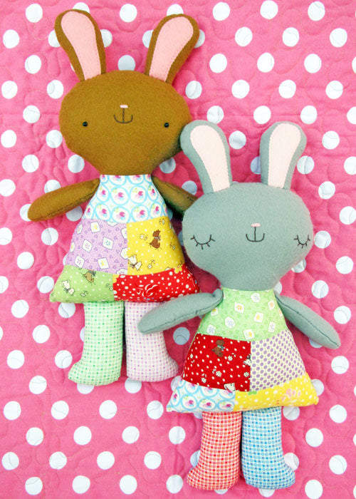 Goodnight Bunny Pattern - Two Brown Birds