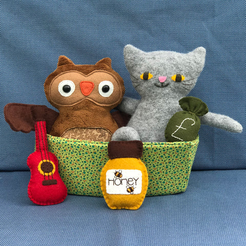 The Owl & the Pussycat Pattern - Two Brown Birds