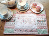 "Monthly Punnet Project ~ June~""Always time for Tea"" Tray Cloth Pattern & Kit"