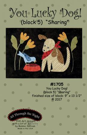 "Bonnie Sullivan- You Lucky Dog Block 5 ""Sharing"" pattern"