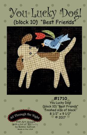 "Bonnie Sullivan- You Lucky Dog Block 10 ""Best Friends"" pattern"