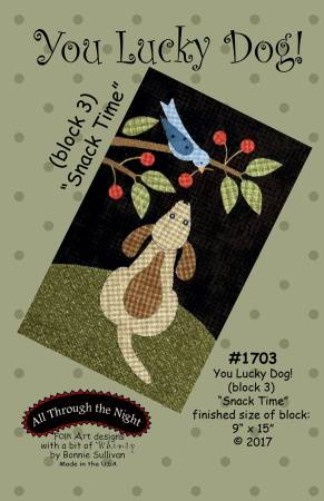 "Bonnie Sullivan- You Lucky Dog Block 3 ""Snack time"" pattern"