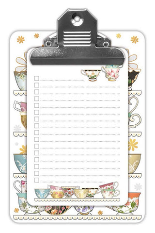 Tea Cups~ Min Clipboard & notepad