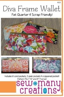 Sew Many Creations - Diva Frame Wallet Pattern