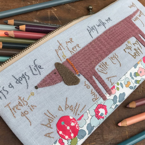 Hatched & Patched ~ A Dog's Life pencil Case~ pattern & wool pack