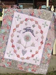 Hatched & Patched ~Rabbit in the Flowerbed~quilt pattern