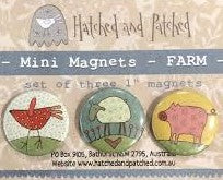 Hatched & Patched ~ Mini Magnets~ Farm