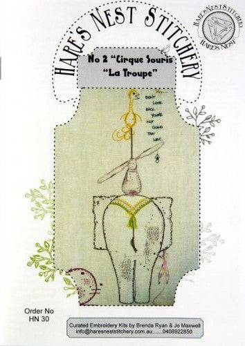 Hare's Nest Stitchery  ~Cirque de Troupe no 2