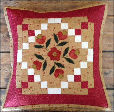 "Farmhouse Threads - ""February Flowers"" cushion pattern"
