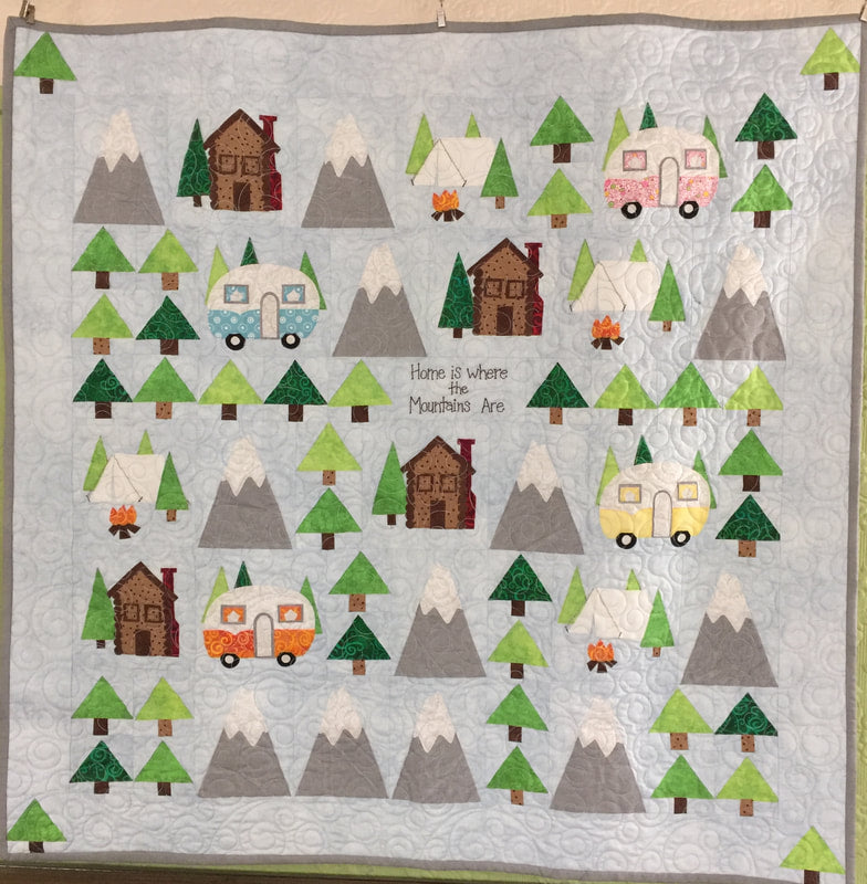 """Home is where the mountains are""  - Sierra Stitcher Quilt Pattern"