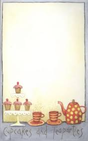 Hatched & Patched ~ Cupcakes & Tea Party~ Note pad