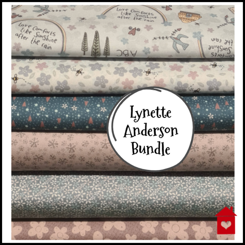 """Sunshine After The Rain"" ~ Lynette Anderson~ Bundle of 6 fabric designs"