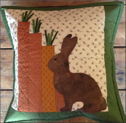 "Farmhouse Threads - ""March Bunny Garden"" cushion pattern"