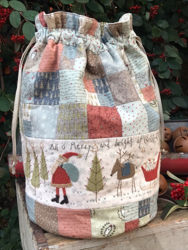 Hatched & Patched Pattern~All is Merry & Bright ~ bag