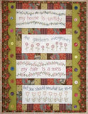 Monthly Punnet Project ~February~ Stitcher's Priority wall-hanging in French General fabrics~ Pattern & Kit