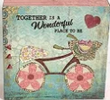 Together is a Wonderful Place to be~  mini block sign