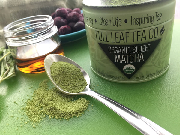 Full Leaf Blended Blueberry Mint Matcha