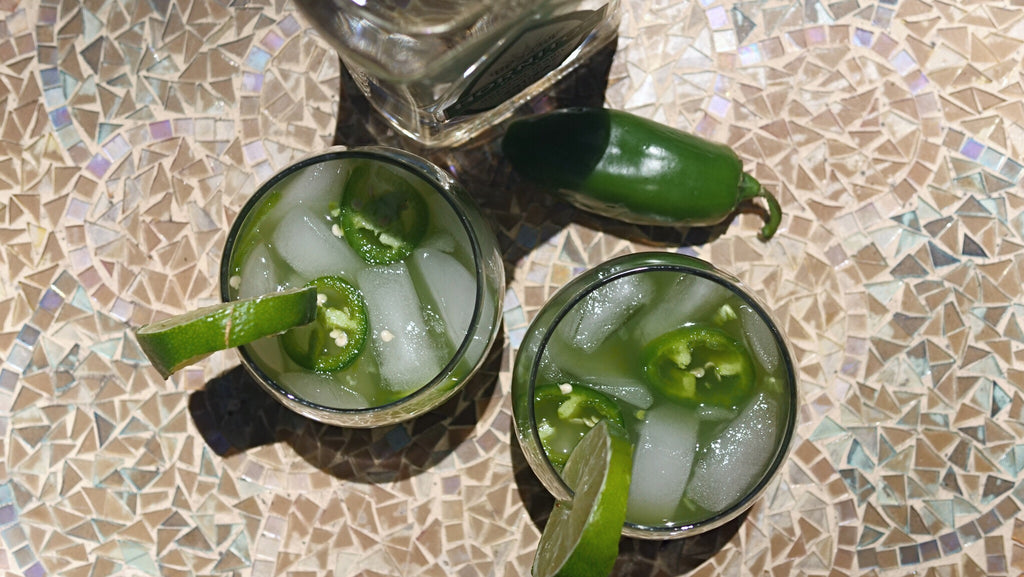 Spicy Matcha Margarita Birds Eye Shot