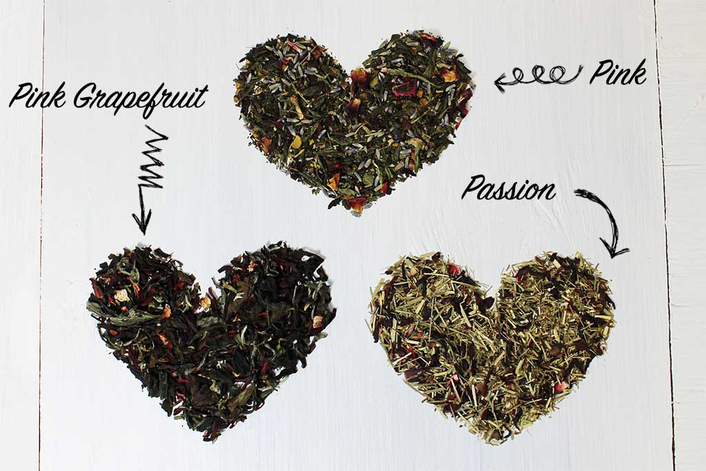 Pretty and Pink Loose Leaf Teas Pink Passion and Pink Grapefruit Full Leaf Tea