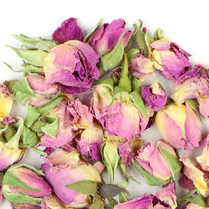 <strong>Organic Rose Buds</strong> used in Organic Pink Tea