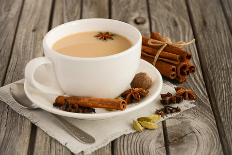 Cup of chai and spices