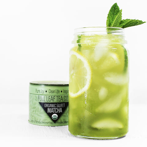 sweet matcha iced tea