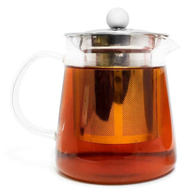 Full Leaf Glass Infuser Teapot