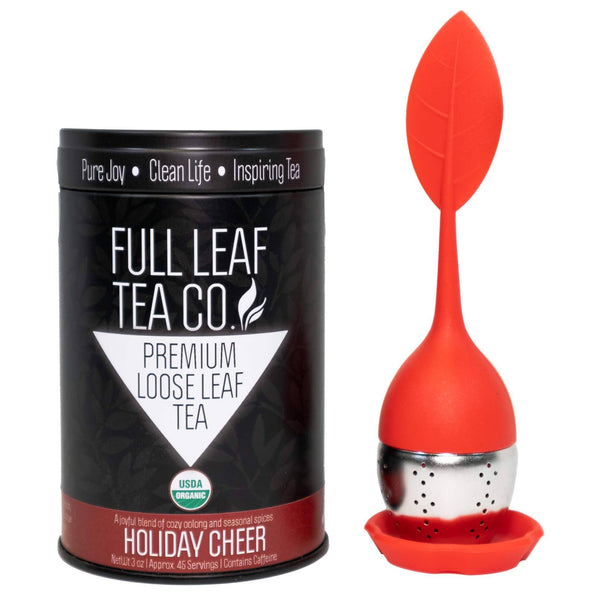 Holiday Gift Bundle - Infuser & Organic Holiday Cheer  -   -  Full Leaf Tea Company