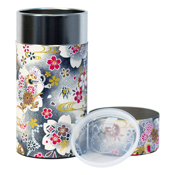 Tea Canister - Japanese Floral  -  Accessories  -  Full Leaf Tea Company