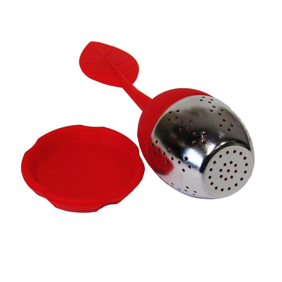 Red Leaf Silicone Infuser Laying Down