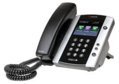 Polycom VVX 500 12-line Business Media Phone with HD Voice.