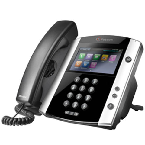 Polycom VVX 600 16-line Business Media Phone with built-in Bluetooth and HD Voice.