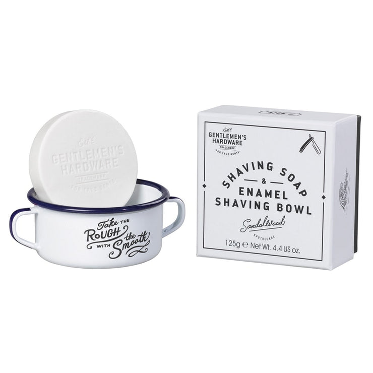 Shaving Soap & Enamel Bowl