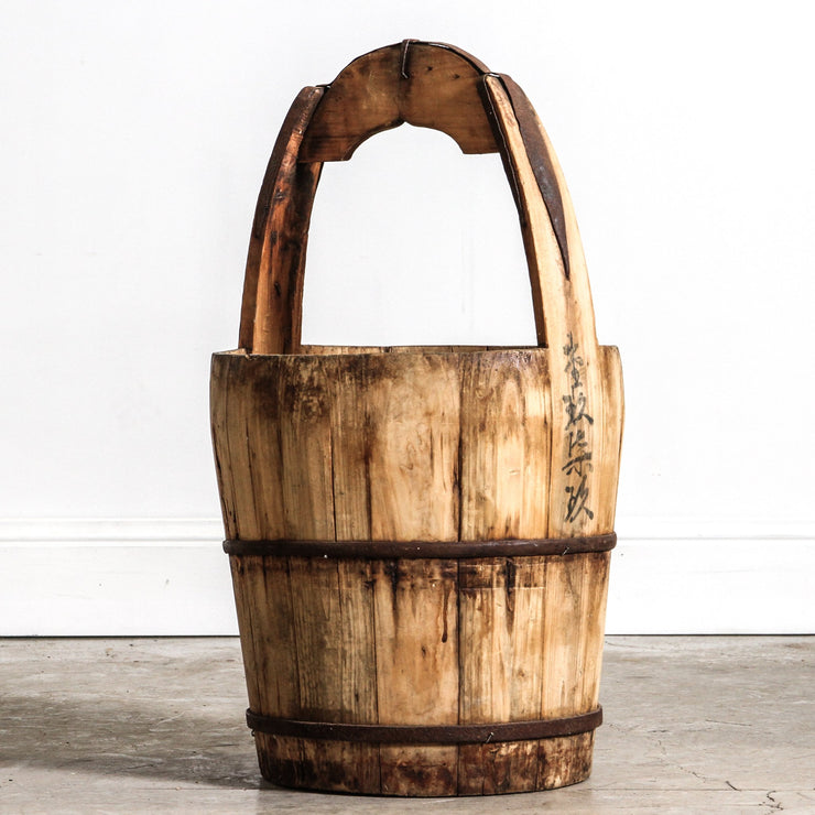 CDE1019-17 Antique Chinese Water Bucket