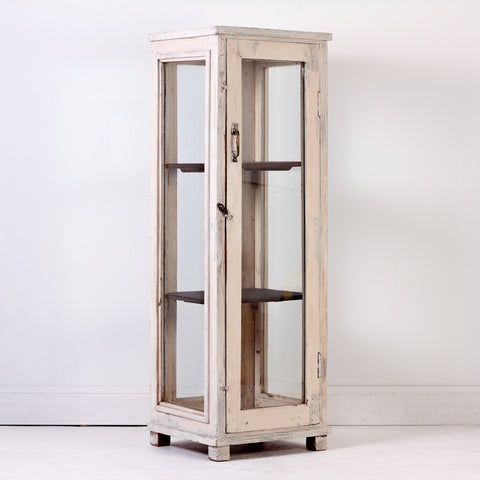 IFU0915-63 White Glass Display Cabinet
