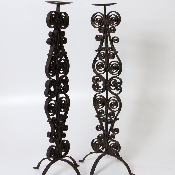 IDE1117-18 Iron Jali Candle Stand