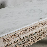 IFU1220-43 Vintage Indian Console with Marble Top