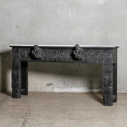 IFU1220-47 Vintage Indian Console with Marble Top