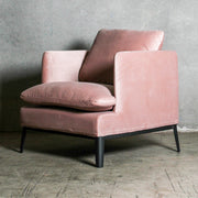 Lewis Classic Velvet Chair - Rose Dust