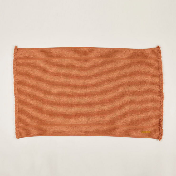 Vintage Wash Bath Mat - Tobacco