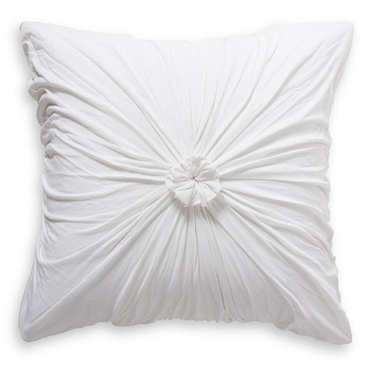 Euro Rosette Pillowcase - Organic White